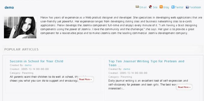 author's profile